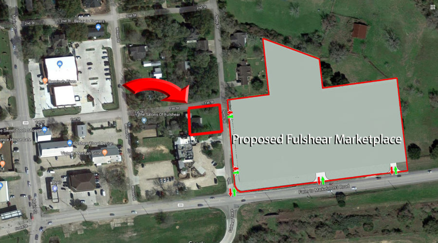 Prime 8700 s/f Lot in Fulshear – Across from Proposed Fulshear Marketplace
